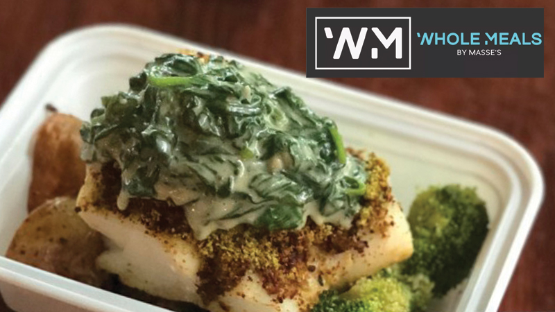 Baked Haddock Florentine Whole Meals by Masses