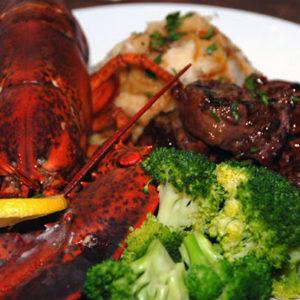Lobster Steak Dinner Masse's American Bistro